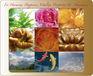 Feng Shui for Harmony, happiness, Vitality, Prosperity, Abundance