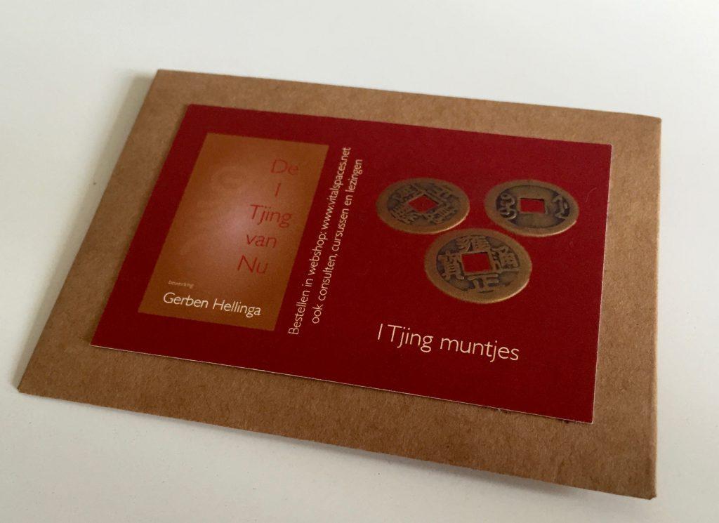 3 I Tjing muntjes in geschenk/bewaarenvelopje